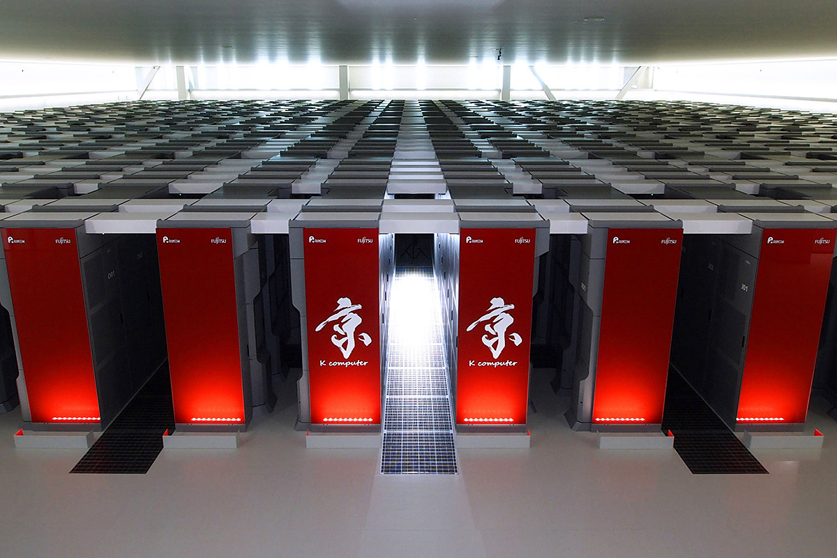 Image of Fujitsu's K Supercomputer from the Riken Advanced Institute for Computational Science